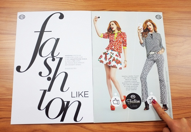 facebook like button in print magazin